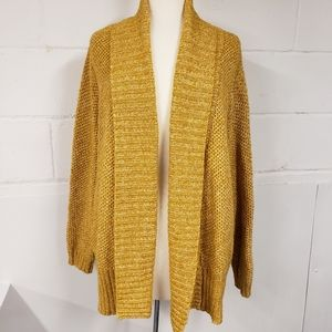Ava & Viv Gold Cardigan Sweater 1X